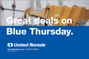United Rentals Blue Thursday Sales Event....