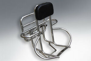 Lambretta Stainless 4 in 1 3 in 1 S3 Li SX TV GP  Rack Rear Carrier Backrest