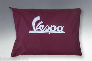 Vespa Waterproof Scooter Cover in Burgandy with Pouch