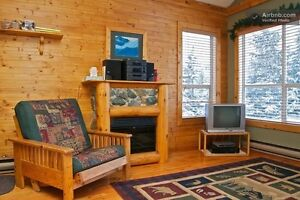 Log cabin style one bedroom townhome in Whistler - Steps to lift
