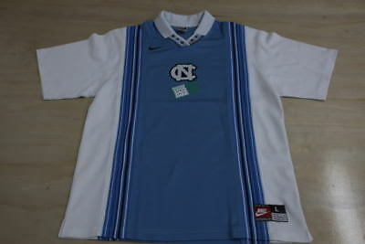 NIKE NCAA UNC NORTH CAROLINA TAR HEELS WHITE BLUE SHOOTING SHIRT LARGE WARMUP