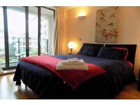 Suitable for female: Luxury en suite master bedroom kings cross £150. including all bills no deposit
