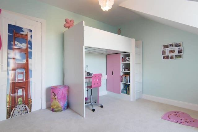 Ikea Stuva Childrens Loft Bed Pink White