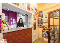 Part-time Hostel Receptionist- IMMEDIATE START -Central London