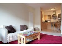 Furnished two b/room comfortable & well-presented flat (free parking)