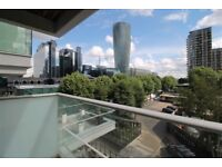 Stylish 1bedroom flat with private balcony,furnished in Pan Peninsula Square West Tower,Canary Wharf