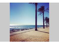 Aupair in Barcelona Spain... next to the sea ... learn Spanish.. Friendly family!