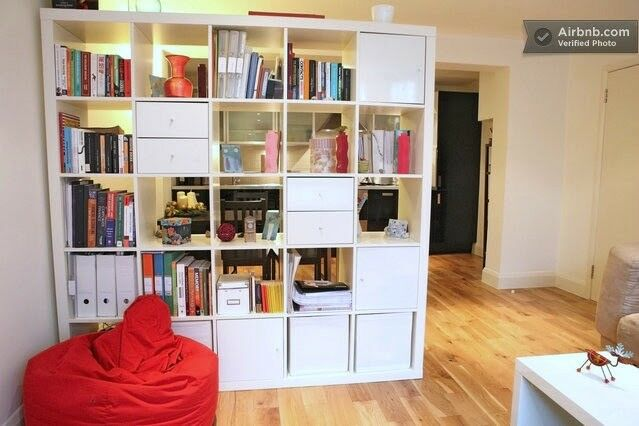 5x5 EXPEDIT/KALLAX shelf in white with 2 drawers & 3 doors