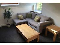 Next Corner Sofa in Grey / Stone