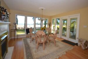 WATERFRONT! Furnished Home on  Sandy Beach $2250