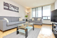 WEEKLY rental suite FURNISHED Toronto internet + cable WOW!