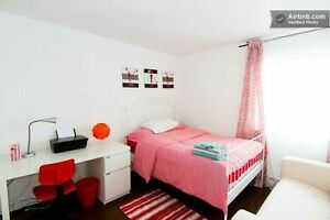 ****BIG BRIGHT FULLY FURNISHED ROOM****NDG***AVAILABLE NOW