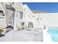 Santorini Flights & Hotel June 11 - 15 - Private Villa for 2 (w/child optional)