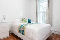 6 1/2 4 chambres tout meublés plateau mont-royal