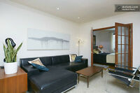 PLATEAU; large furnished 1BR, Laurier metro