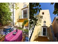 Spacious flat with garden in historic center of Palermo, Sicily