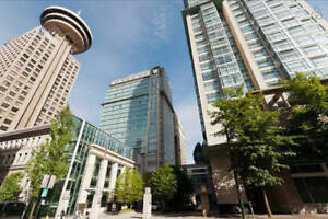 downtown Vancouver one bedroom+den fully furnished