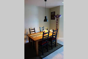 1.5 year new solid pine STORNÄS(Ikea) Extendable dining table Moose Jaw Regina Area image 3