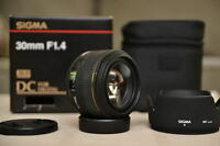 Sigma 30mm f1.4 for Canon