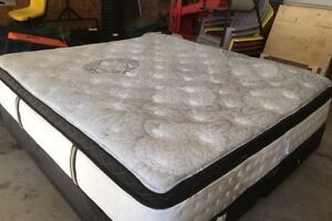 King Size Mattress, box spring, and frame