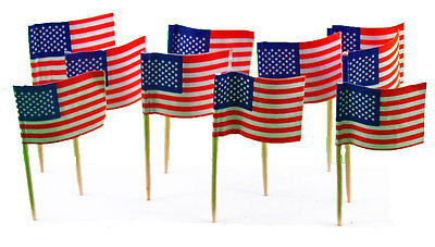 144 American Flag Mini Picks Toothpicks - Flag Picks