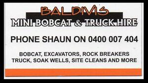 Bobcat excavator truck hire rock breaking Baldivis Rockingham Area Preview