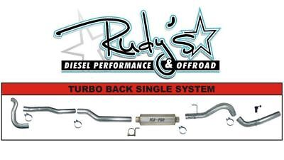 "Flo Pro 4"" SS Turbo Back Exhaust W Muffler For 94-02 5.9L Cummins Diesel SS802"