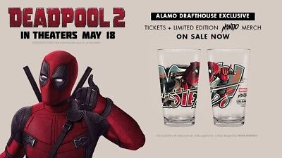 Deadpool 2 Mondo Alamo Drafthouse Exclusive Pint Glass In Hand