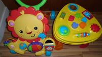 Fisher price musical lion walker and baby activity table
