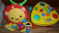 Fisher price lion walker and baby activity table