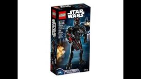 Lego Star Wars Elite TIE Fighter Pilot Buildable Figure 75526: Brand new and unopened