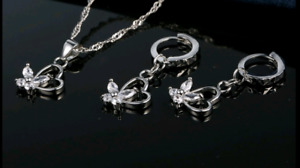 Butterfly necklace and earrings sets