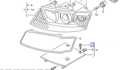 Headlight Bolt Screw N90683302 M6X20 For Audi A4/S4 Q5 Q7