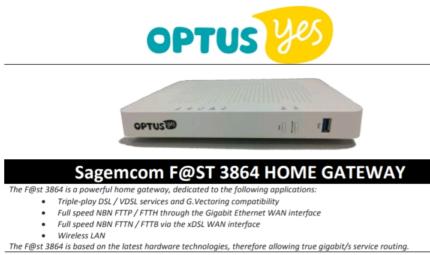 NBN wifi Modem/Router  Optus F@ST 3864