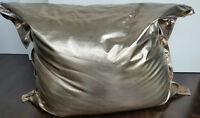 Large Designer Metallic Leather Bean Bags