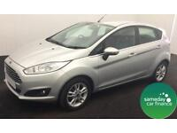 £123.25 PER MONTH SILVER 2014 FORD FIESTA 1.2 ZETEC 5 DOOR PETROL MANUAL