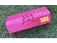 Kennedy Metal Vintage Tool Box Carry Case Steel Industrial Kennedy Mechanic Storage Box Fire Brigade
