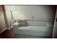 Sofa bed Grey modern vgc