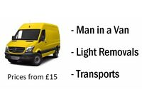 Light Removals - Transports - Man in a Van - 1 off single item Moves - Any distance