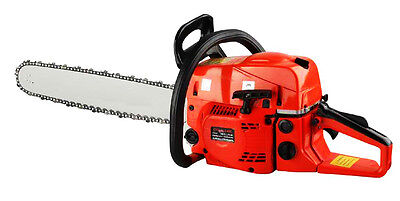 "52CC 22"" GASOLINE CHAINSAW CUTTING WOOD GAS CHAIN SAW ALUMINUM CRANKCASE  on Rummage"