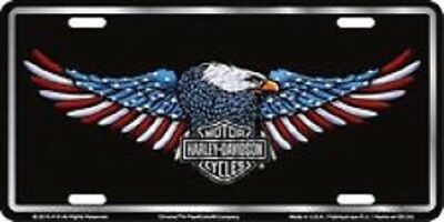 HARLEY DAVIDSON PATRIOTIC EAGLE EMBOSSED METAL NOVELTY LICENSE PLATE TAG for sale  Bluefield