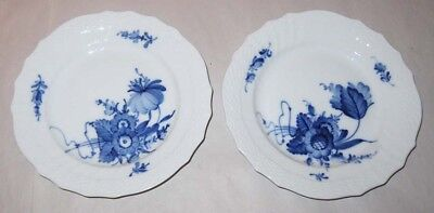 #10 Royal Copenhagen Blue Flower Scalloped 2 Bread Plates #1626 Denmark