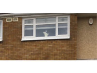 Excellent Condition White PVC Double Glazed Window Less than Year old