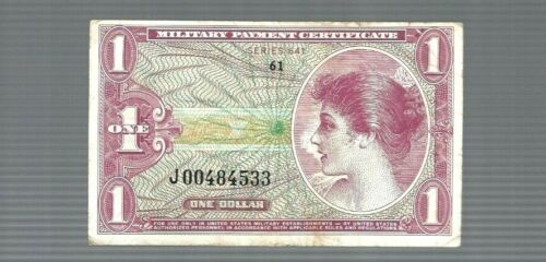 ✨Series 641 $1 (Dollar) ✨Military Payment Certificate Replacement Note ✨#4533✨