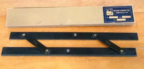 Vtg. Mayline Naval Navigation Drafting parallel Ruler Sheboygan, Wis. 18 in.