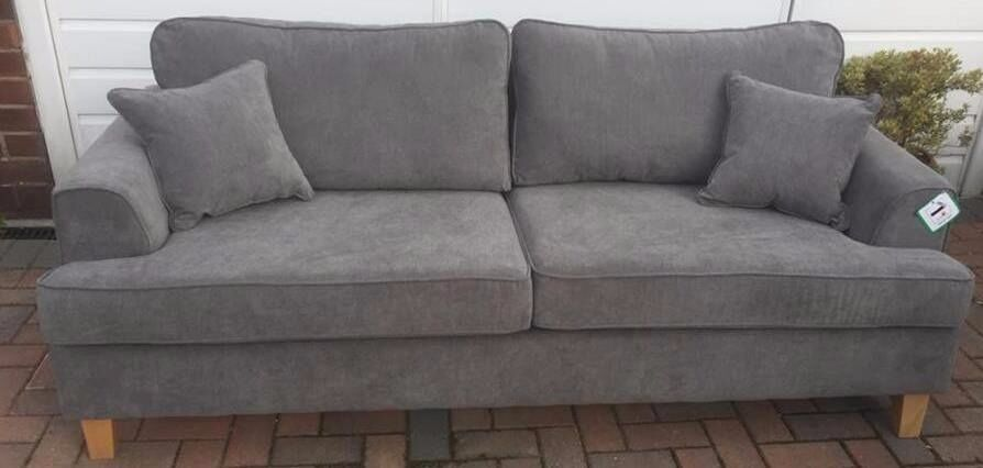 Cavendish Camden 3 Seater Charcoal Grey Sofa Ex Display