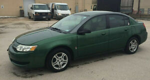 2003 Saturn ION Sedan clean title fresh safety low km !
