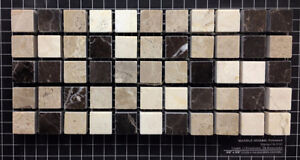 Marble 5/8'' Emperador Dark & Light with cream mix $10.99sheet