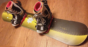 Com-plete mans Snowboard & Boots(size 8.5)  Setup  SEE VIDEO