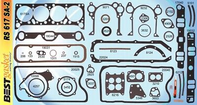 Pontiac 326 389 421 Full Engine Gasket Set/Kit BEST Head+Intake+Oil Pan 1961-67